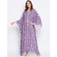 The Kaftan Company Purple Repeats Loungewear Kaftan