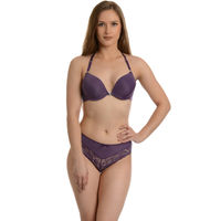 Da Intimo Purple Designer Bra & Brief Set