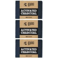 Beardo Activated Charcoal Brick Soap - 125 gm - Set Of 3