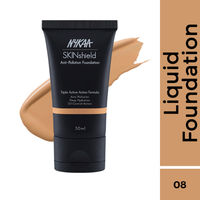 Nykaa SkinShield Anti-Pollution Matte Foundation - Pure Olive 08