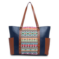 Kanvas Katha Fashion Pu Tote Bag