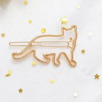 Ferosh Bracha Gold Cat Hair Pin