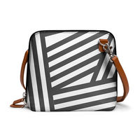 DailyObjects Black Stripes - Trapeze Crossbody Bag