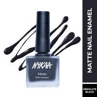 Nykaa Matte Nail Lacquer - Black Sesame Pudding 09
