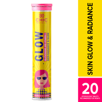 Chicnutrix Glow - Glutathione and Vitamin C for Skin Radiance & Glow - 20 Effervescent Tablets