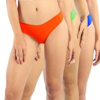 Candyskin Seamless Panty With Lace Pack of 3 - Multi-Color