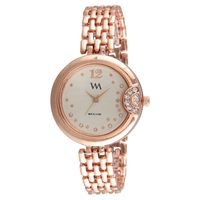 WM White Stainless Steel Analog Watch For Women (Wmal-307-C)