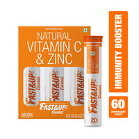 Fast&Up Charge Natural Vitamin C & Zinc Orange Pack of 3 20 Tablets
