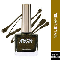 Nykaa Black To Gold Nail Enamel Polish - Disco Gold 230