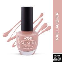 Nykaa Salon Shine Gel Nail Lacquer - Dubai Dune Bashing 217