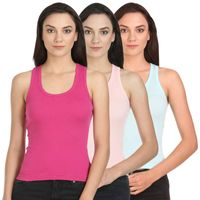 Bodycare Cool Racerback Camisole In Peach-T.Sky-Fuchsia Color (Pack Of 3)