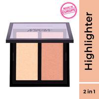 Nykaa Glow Getter Highlighting & Illuminating Duo Palette - 24K Glam 01