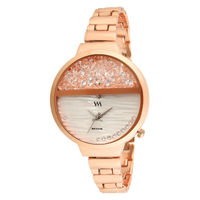 WM Stainless Steel Analog Watch For Women And Girls (WMal-358)