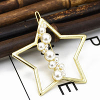 Ferosh Livia Pearl-Studded Golden Star Hair Pin