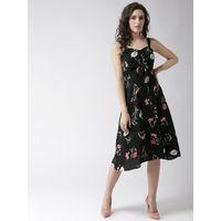 Twenty Dresses Black The Floral Paradise Midi Dress