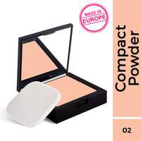 Nykaa SKINgenius Skin Perfecting & Hydrating Matte Powder Compact - Rose Beige 02