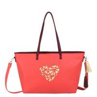 Thathing Peach Heart Tote Handbag