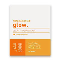 Pure Cure + Co. Glow Clear + Radiant Skin 60 Tablets