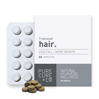 Pure Cure + Co. Hair Less Fall + More Growth 60 Tablets