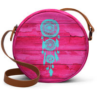 DailyObjects Hipster Teal Dreamcatcher Girly Pink Fuchsia Wood - Orbis Crossbody Hand Bag