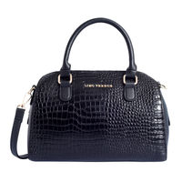 Lino Perros Faux Leather Black Hand Bag