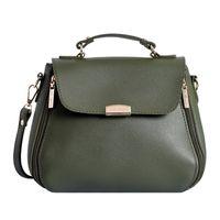 Lino Perros Faux Leather Green Handbag