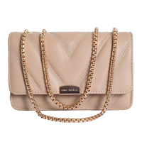 Lino Perros Beige Faux Leather Handbag