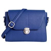 Lino Perros Blue Leatherette Sling Bag