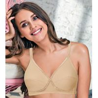 Enamor A056 Super Comfort Lift Bra High Coverage, Non-Padded & Wirefree - Nude