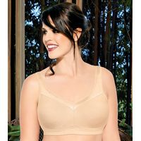 Enamor A112 Full Support Cotton Bra X-Frame, High Coverage, Non-Padded & Wirefree - Nude