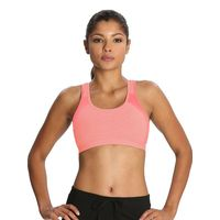 Jockey Desert Flower Melange & Coral Power Back Padded Active Bra