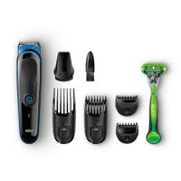 Braun Multi 7-in-1 Beard Hair Trimmer Grooming Kit - MGK3040 + Free Gillette Body Razor