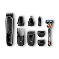 Braun Multi Grooming Kit MGK3060 - 8-in-1 Face And Head Trimming FREE Gillette Manul Razor