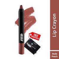 Nykaa Matte-ilicious Lip Crayon Lipstick - Next Level Nude 04