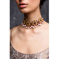 ROZANA by ZARIIN Floral Traces Choker Necklace