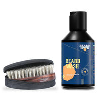 Beardhood Boar Bristles Beard Brush & Beard Growth Wash