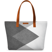 DailyObjects Black And White Triangles Fatty Tote Bag