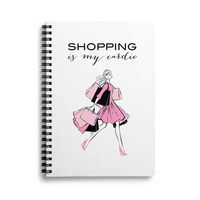 DailyObjects Shopping Is Cardio A5 Spiral Notebook