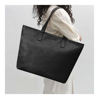 DailyObjects Black Faux Leather Fatty Women's Tote Bag