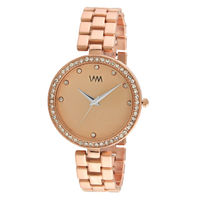 WM Rose Gold Dial Stainless Steel Strap Watch For Women (WMAL-335new)