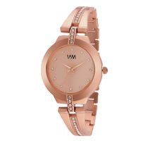 WM Rose Gold Dial Stainless Steel Strap Watch For Women (WMAL-350new)
