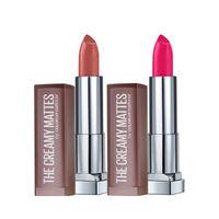 Maybelline New York Color Sensational Creamy Matte Lipstick - Nude Nuance + Mesmerizing Magenta
