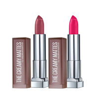 Maybelline New York Color Sensational Creamy Matte Lipstick - Touch Of Spice + Mesmerizing Magenta