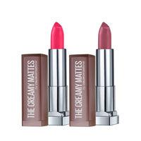 Maybelline New York Color Sensational Creamy Matte Lipstick - Flaming Fuchsia + Lively Violet