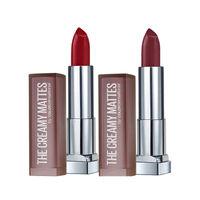 Maybelline New York Color Sensational Creamy Matte Lipstick - Divine Wine + Burgundy Blush