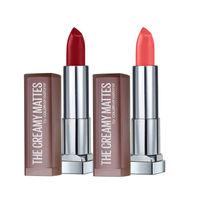 Maybelline New York Color Sensational Creamy Matte Lipstick - Divine Wine + Rock The Coral