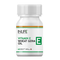 INLIFE Vitamin E 400 IU Wheat Germ Oil- 60 Liquid Filled Capsules