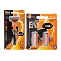 The Shave Doctor Hero Razor + Hero Blade - Packs of 2