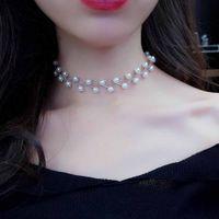 Ferosh Silver Pearl Choker Necklace