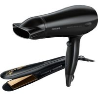 Philips HP8646 Hair Straightener And Hair Dryer Combo Set